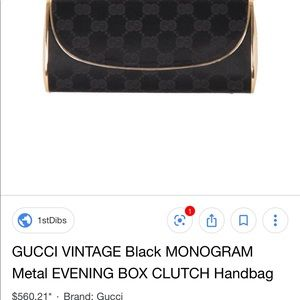 Gucci vintage metal clutch 1960's